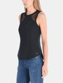 ARMANI EXCHANGE SHEER PANELED SHELL S/L Woven Top Woman d