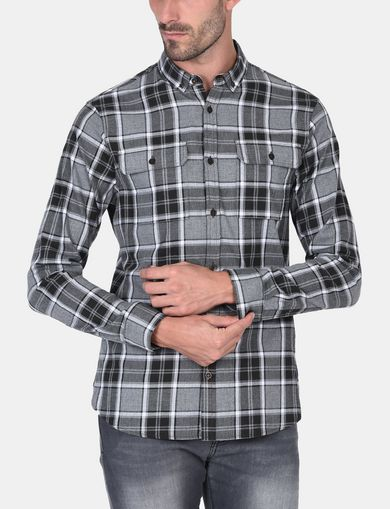 BRUSHED COTTON PLAID WORKSHIRT