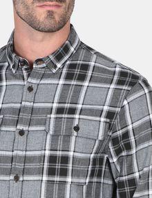ARMANI EXCHANGE BRUSHED COTTON PLAID WORKSHIRT Long sleeve shirt Man e