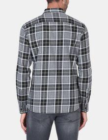 ARMANI EXCHANGE BRUSHED COTTON PLAID WORKSHIRT Long sleeve shirt Man r