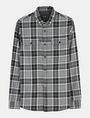 ARMANI EXCHANGE BRUSHED COTTON PLAID WORKSHIRT Long sleeve shirt Man b
