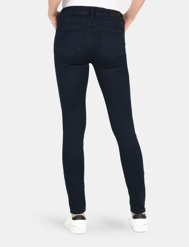 BLACKENED INDIGO SUPER SKINNY JEANS