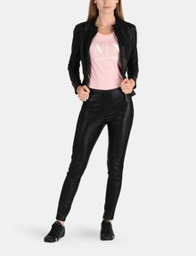ARMANI EXCHANGE PANELED FAUX LEATHER SKINNY PANTS Hose Damen a