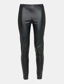 ARMANI EXCHANGE PANELED FAUX LEATHER SKINNY PANTS Hose Damen b