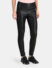 ARMANI EXCHANGE PANELED FAUX LEATHER SKINNY PANTS Hose Damen d