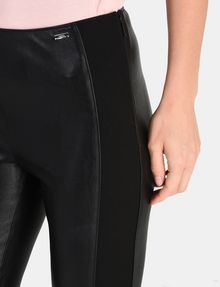 ARMANI EXCHANGE PANELED FAUX LEATHER SKINNY PANTS Hose Damen e