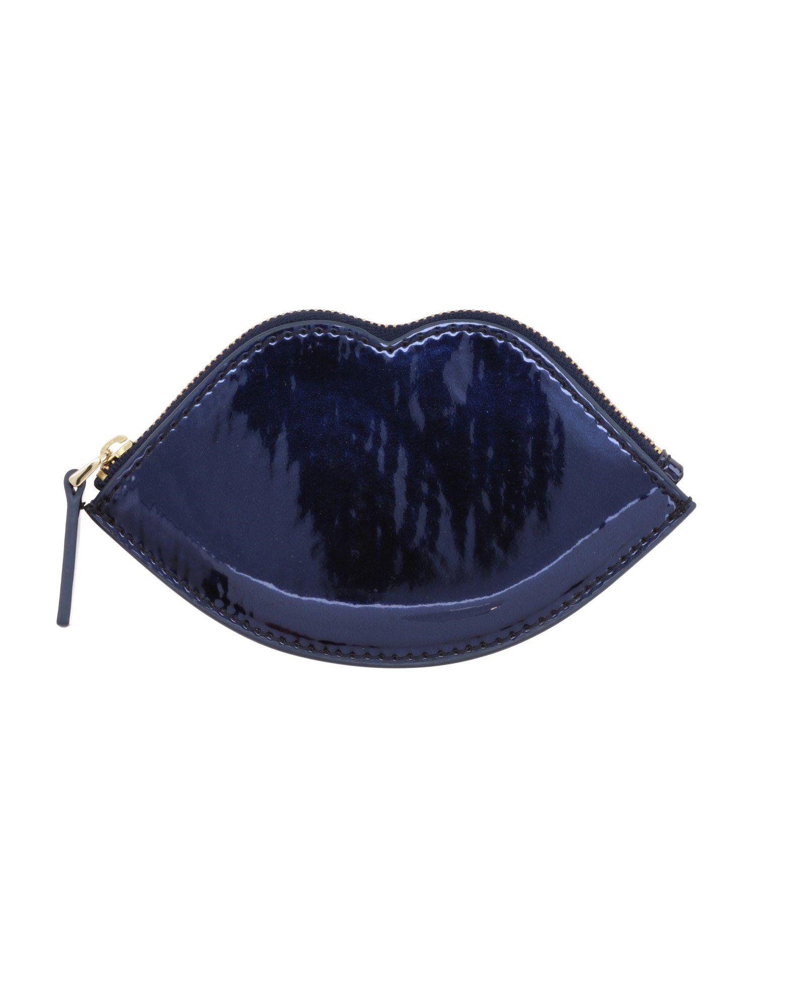 LULU GUINNESS Damen Portemonnaie Farbe Blau Größe 1