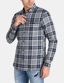 ARMANI EXCHANGE BRUSHED COTTON PLAID WORKSHIRT Long sleeve shirt Man d