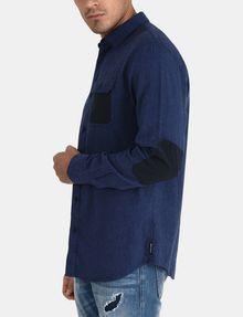 ARMANI EXCHANGE BRUSHED COTTON HEATHERED WORKSHIRT Long sleeve shirt Man d