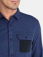 ARMANI EXCHANGE BRUSHED COTTON HEATHERED WORKSHIRT Long sleeve shirt Man e