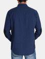 ARMANI EXCHANGE BRUSHED COTTON HEATHERED WORKSHIRT Long sleeve shirt Man r