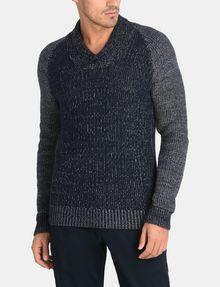 ARMANI EXCHANGE MARLED SHAWL-COLLAR SWEATER Pullover Man f