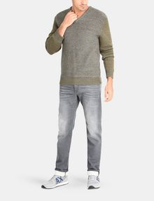 ARMANI EXCHANGE TRICOLOR MARL V-NECK SWEATER Pullover Man a