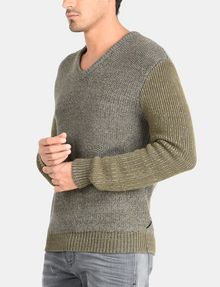ARMANI EXCHANGE TRICOLOR MARL V-NECK SWEATER Pullover Man d