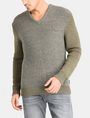ARMANI EXCHANGE TRICOLOR MARL V-NECK SWEATER Pullover Man f