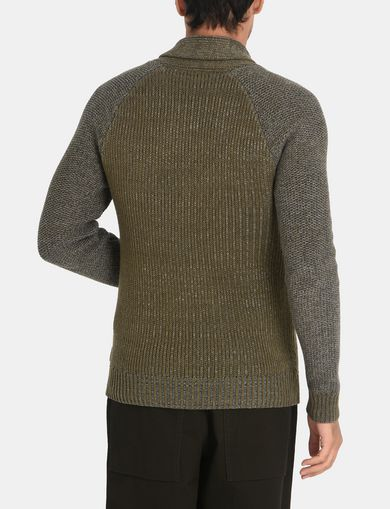 MARLED SHAWL-COLLAR SWEATER