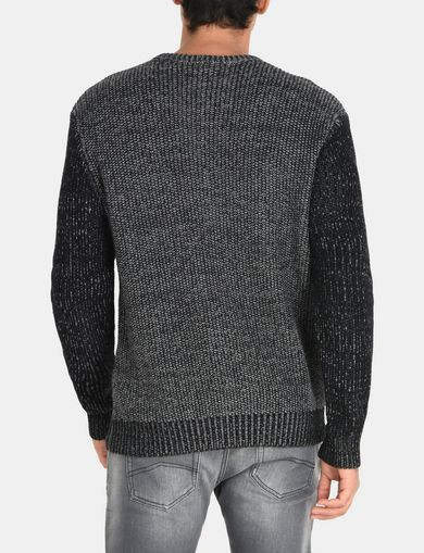 TRICOLOR MARL V-NECK SWEATER