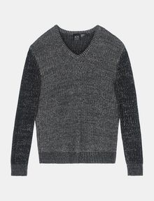 ARMANI EXCHANGE TRICOLOR MARL V-NECK SWEATER Pullover Man b