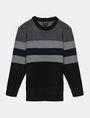 ARMANI EXCHANGE BOYS MIXED STITCH STRIPE CREWNECK T-SHIRT Pullover Man f