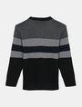 ARMANI EXCHANGE BOYS MIXED STITCH STRIPE CREWNECK T-SHIRT Pullover Man r
