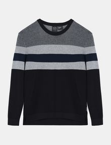 ARMANI EXCHANGE CHEST STRIPE CREWNECK SWEATER Pullover Man b
