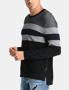 ARMANI EXCHANGE CHEST STRIPE CREWNECK SWEATER Pullover Man d
