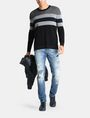 ARMANI EXCHANGE CHEST STRIPE CREWNECK SWEATER Pullover Man a