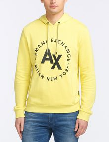 ARMANI EXCHANGE FRENCH TERRY CIRCLE HOODIE Fleece Top Man f