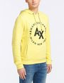 ARMANI EXCHANGE FRENCH TERRY CIRCLE HOODIE Fleece Top Man d