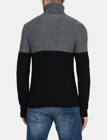 ARMANI EXCHANGE COLORBLOCK ZIGZAG CABLE TURTLENECK Pullover Man r
