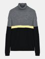 ARMANI EXCHANGE COLORBLOCK ZIGZAG CABLE TURTLENECK Pullover Man b