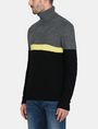 ARMANI EXCHANGE COLORBLOCK ZIGZAG CABLE TURTLENECK Pullover Man d