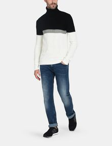 ARMANI EXCHANGE COLORBLOCK ZIGZAG CABLE TURTLENECK Pullover Herren a