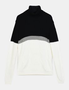 ARMANI EXCHANGE COLORBLOCK ZIGZAG CABLE TURTLENECK Pullover Herren b