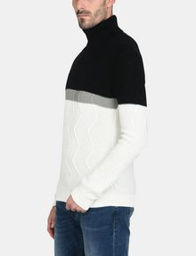 ARMANI EXCHANGE COLORBLOCK ZIGZAG CABLE TURTLENECK Pullover Herren d