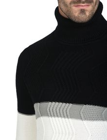 ARMANI EXCHANGE COLORBLOCK ZIGZAG CABLE TURTLENECK Pullover Herren e