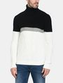 ARMANI EXCHANGE COLORBLOCK ZIGZAG CABLE TURTLENECK Pullover Herren f