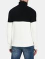 ARMANI EXCHANGE COLORBLOCK ZIGZAG CABLE TURTLENECK Pullover Herren r