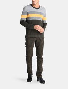 ARMANI EXCHANGE CHEST STRIPE CREWNECK SWEATER Pullover [*** pickupInStoreShippingNotGuaranteed_info ***] a