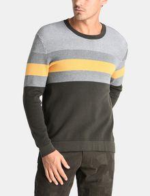 ARMANI EXCHANGE CHEST STRIPE CREWNECK SWEATER Pullover Man f