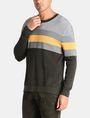 ARMANI EXCHANGE CHEST STRIPE CREWNECK SWEATER Pullover [*** pickupInStoreShippingNotGuaranteed_info ***] d