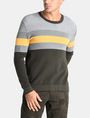 ARMANI EXCHANGE CHEST STRIPE CREWNECK SWEATER Pullover [*** pickupInStoreShippingNotGuaranteed_info ***] f