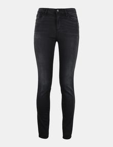 ARMANI EXCHANGE LIFT-UP WASHED BLACK SUPER SKINNY JEANS Skinny jeans Woman b