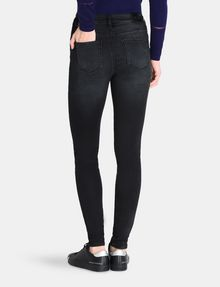 ARMANI EXCHANGE LIFT-UP WASHED BLACK SUPER SKINNY JEANS Skinny jeans Woman r