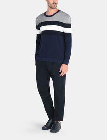 ARMANI EXCHANGE CHEST STRIPE CREWNECK SWEATER Pullover Man a