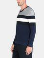 ARMANI EXCHANGE CHEST STRIPE CREWNECK SWEATER Pullover Man d