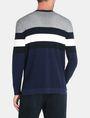 ARMANI EXCHANGE CHEST STRIPE CREWNECK SWEATER Pullover Man r