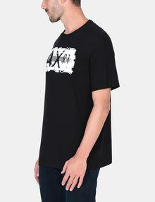 ARMANI EXCHANGE RELAXED PAINTBOX LOGO CREWNECK T-SHIRT Logo T-shirt Man d