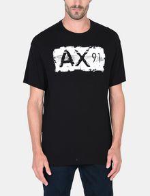 ARMANI EXCHANGE RELAXED PAINTBOX LOGO CREWNECK T-SHIRT Logo T-shirt Man f