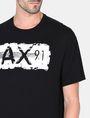 ARMANI EXCHANGE RELAXED PAINTBOX LOGO CREWNECK T-SHIRT Logo T-shirt Man e